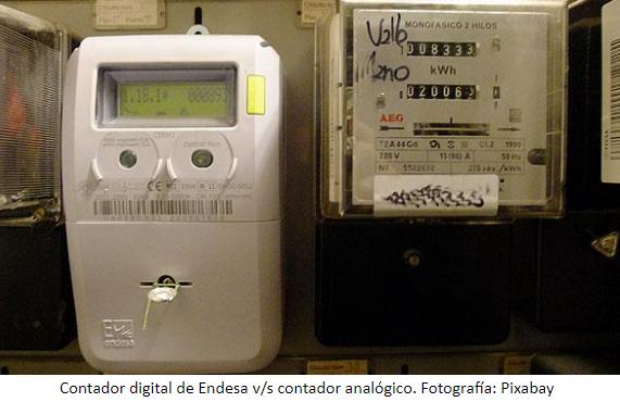 Diferencias entre contador  de luz digital y analógico